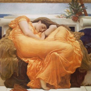 Painted by Lord Frederic Leighton, 1895